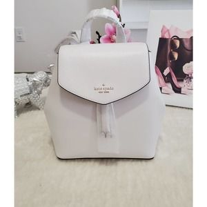 Kate Spade Backpack Bag White & Gold Medium